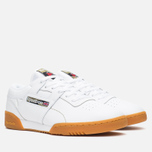 Мужские кроссовки Reebok Workout Low Clean Tiger Camo White/Black/Olive/Oatmeal фото- 1