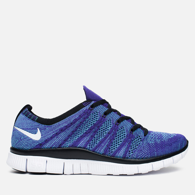 Мужские кроссовки Nike Free Flyknit NSW Court Purple/White/Blue