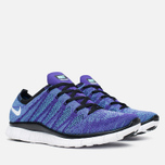 Мужские кроссовки Nike Free Flyknit NSW Court Purple/White/Blue фото- 1