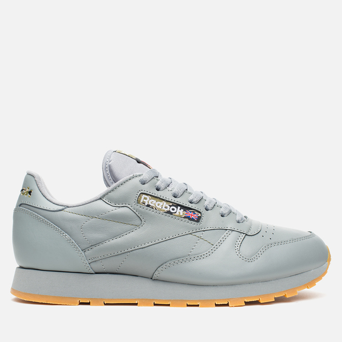 Кроссовки Reebok Classic Leather Tiger Camo Flat Grey/Black/Olive