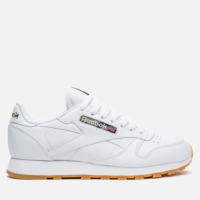 Кроссовки Reebok Classic Leather Tiger Camo White/Black/Warm Olive