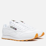 Кроссовки Reebok Classic Leather Tiger Camo White/Black/Warm Olive фото- 1