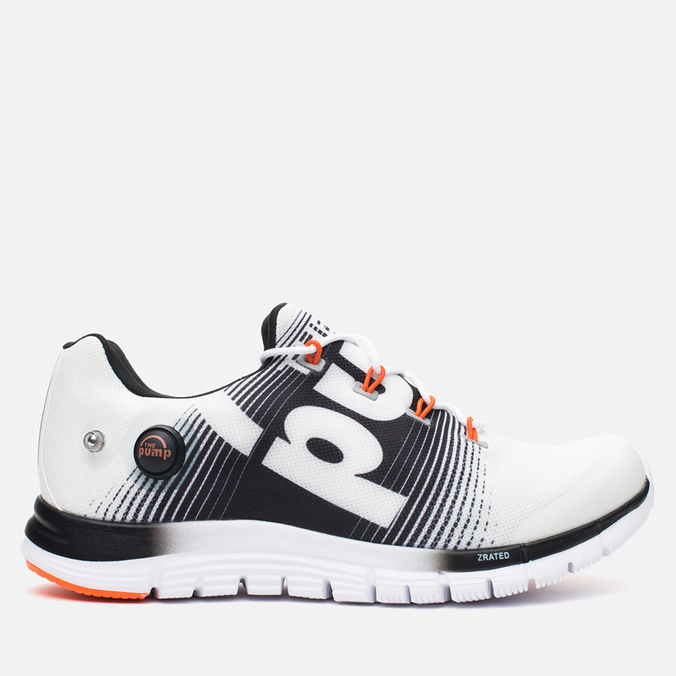 Мужские кроссовки Reebok ZPump Fusion White/Black/Swag Orange