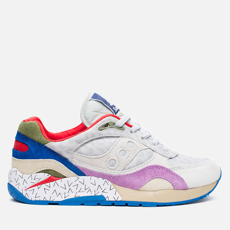 Мужские кроссовки Saucony x Bodega G9 Shadow 6 Pattern Recognition Grey/Purple
