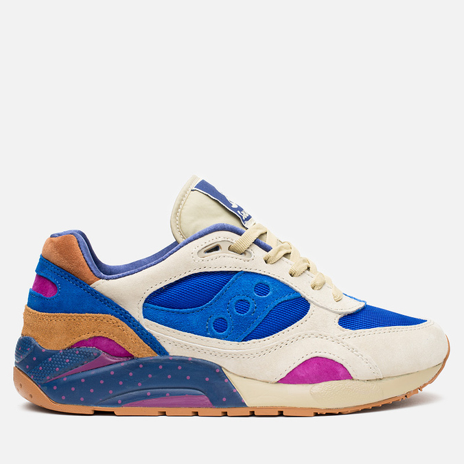 Мужские кроссовки Saucony x Bodega G9 Shadow 6 Pattern Recognition Light Tan/Blue