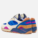 Saucony x Bodega G9 Shadow 6 Pattern Recognition Men's Sneakers Light Tan/Blue photo- 2
