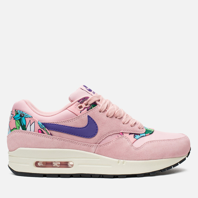 Женские кроссовки Nike Air Max 1 Print Pink Glaze/Purple