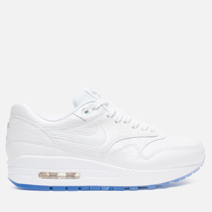 Женские кроссовки Nike Air Max 1 PRM White/Metallic Silver