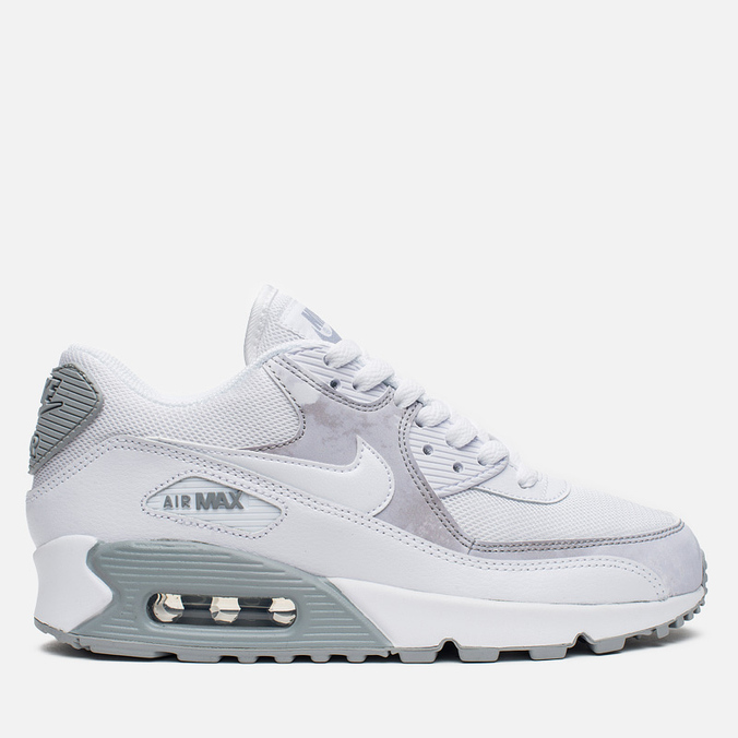 Женские кроссовки Nike Air Max 90 Print White/Wolf Grey