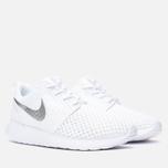 Женские кроссовки Nike Roshe One BR White/Metallic Platinum фото- 1