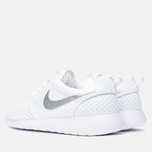 Женские кроссовки Nike Roshe One BR White/Metallic Platinum фото- 2