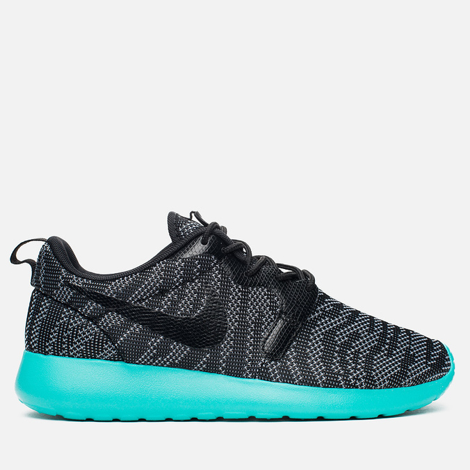 Женские кроссовки Nike Roshe One Knit Jacquard Wolf Grey/Black/Light Retro