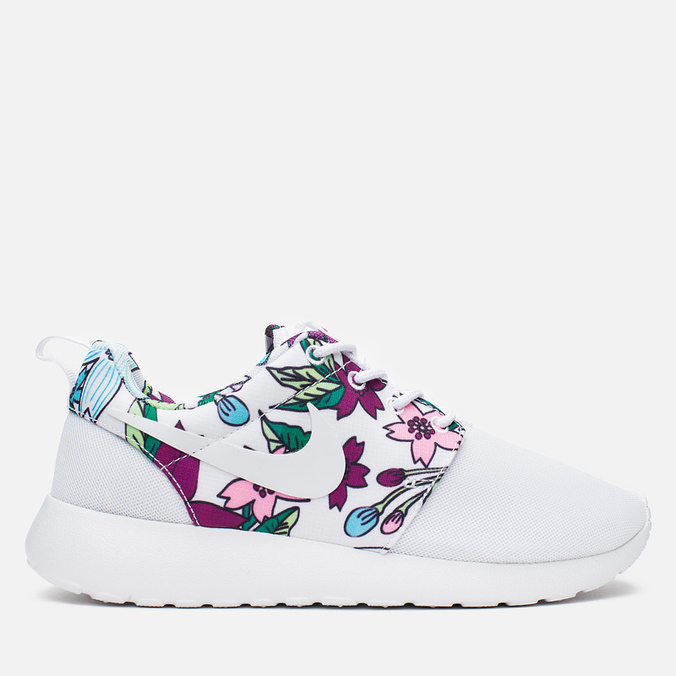Женские кроссовки Nike Roshe One Print White/Bold Berry