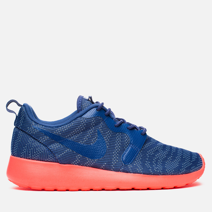 Женские кроссовки Nike Rosherun Knit Jacquard Cool Blue/Hot Lava
