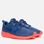 Женские кроссовки Nike Rosherun Knit Jacquard Cool Blue/Hot Lava фото- 1