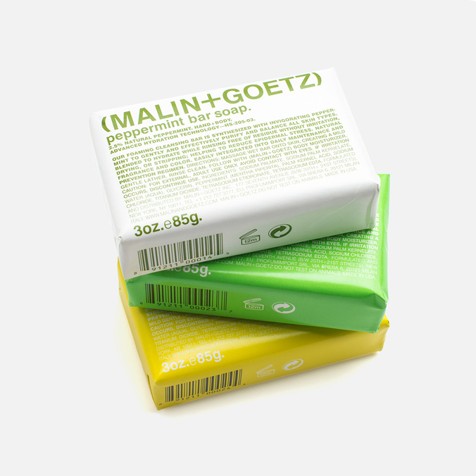 Набор мыла Malin+Goetz Peppermint/Lime/Rum 3x85g