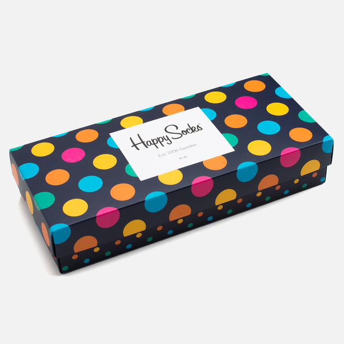Комплект носков Happy Socks Big Dot Box Multicolor (pack x4)