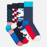 Комплект носков Happy Socks Filled Optic Box (pack x4) фото- 2
