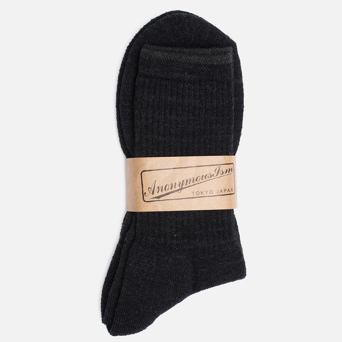 Мужские носки Anonymous Ism Boucle Mix 3 Quarter Black
