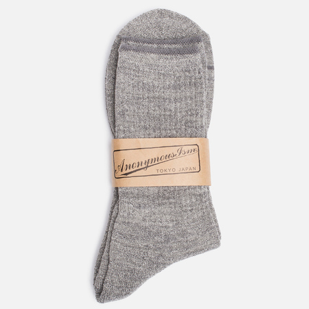 Anonymous Ism Boucle Mix 3 Quarter Men's Socks Grey