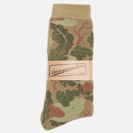Anonymous Ism Camo Pile Crew Men's Socks Khaki