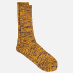 Anonymous Ism Five Colour Mix Crew Men's Socks Brown/Gold photo- 1