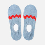 Anonymous Ism Loafer Zig-Zag Sky Men's Socks Blue/Red photo- 1