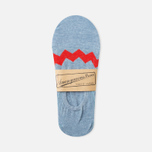 Мужские носки Anonymous Ism Loafer Zig-Zag Sky Blue/Red фото- 0