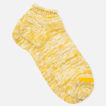 Мужские носки Anonymous Ism Slub Ankle Yellow фото- 1