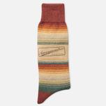 Anonymous Ism Stripes Three Quarter Men's Socks Orange photo- 0