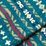Мужские носки Anonymous Ism Three Quarter Jacquard Pattern Torqoise фото- 2