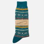 Мужские носки Anonymous Ism Three Quarter Jacquard Pattern Torqoise фото- 0
