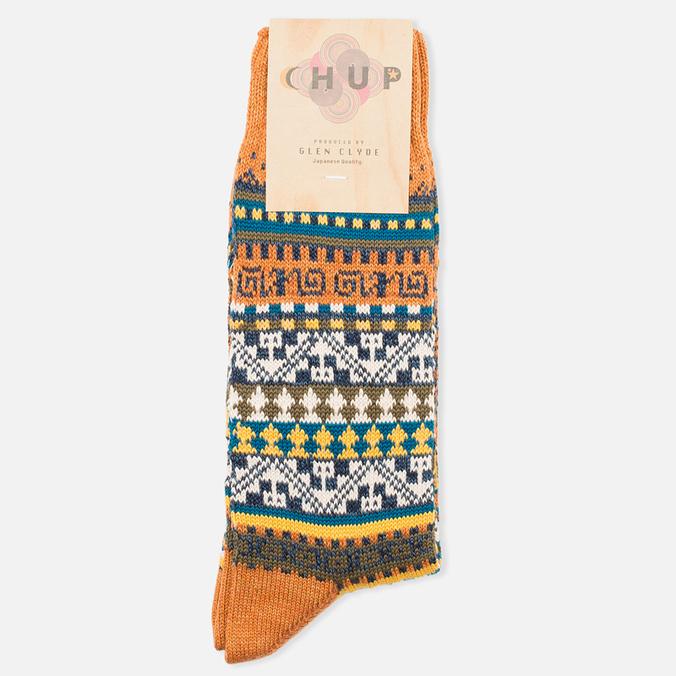 CHUP by Glen Clyde Chullo Socks Orange