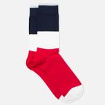 Мужские носки Democratique Socks Originals Block Party Red/White/Navy фото- 1