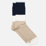 Мужские носки Democratique Socks Originals Block Party Sand/White/Navy фото- 1