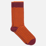 Мужские носки Democratique Socks Originals Houndstooth Red Wine/Blood Orange фото- 1
