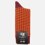 Мужские носки Democratique Socks Originals Houndstooth Red Wine/Blood Orange фото- 0