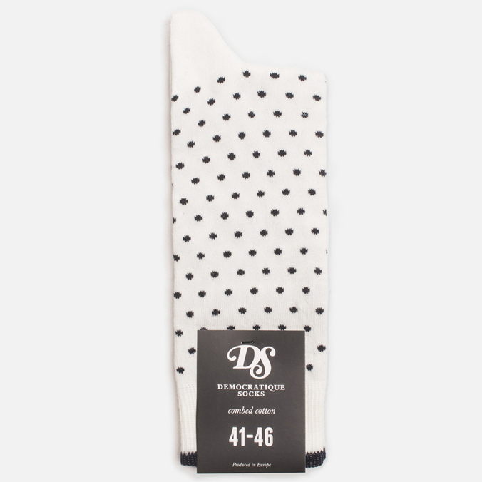 Мужские носки Democratique Socks Originals Polkadot Broken White/Navy