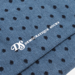 Мужские носки Democratique Socks Originals Polkadot Petroleum Blue/Navy фото- 2