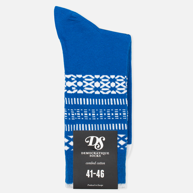 Мужские носки Democratique Socks Originals Selfie Henry Blue/Broken White