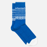 Мужские носки Democratique Socks Originals Selfie Henry Blue/Broken White фото- 1