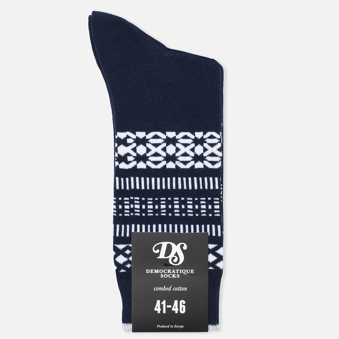 Мужские носки Democratique Socks Originals Selfie Navy/Broken White