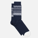 Мужские носки Democratique Socks Originals Selfie Navy/Broken White фото- 1