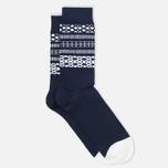 Мужские носки Democratique Socks Originals Selfie Navy/Broken White фото- 1