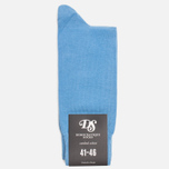 Democratique Socks Originals Solid Men's Socks Baby Blue photo- 0