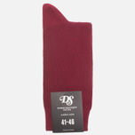 Мужские носки Democratique Socks Originals Solid Red Wine фото- 0