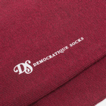 Democratique Socks Originals Solid Red Wine photo- 2