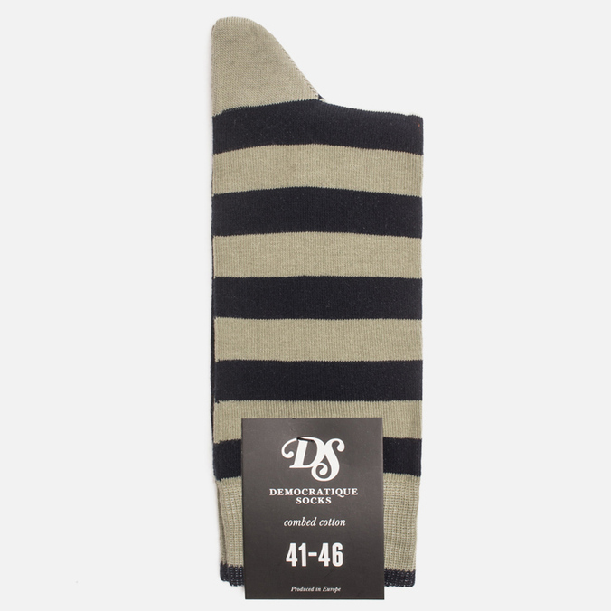 Мужские носки Democratique Socks Originals Striper Dark Sand/Navy