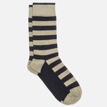 Мужские носки Democratique Socks Originals Striper Dark Sand/Navy фото- 1