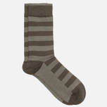 Мужские носки Democratique Socks Originals Striper Forrest Green/Army фото- 1